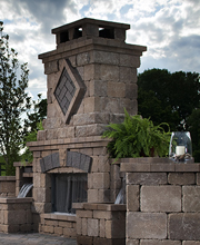 Concrete Block Pavers - Fireplace and Firepits