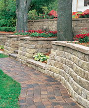 Concrete Block Pavers - Retaining Wall