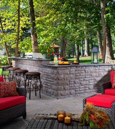 Concrete Block Outdoor Kitchens