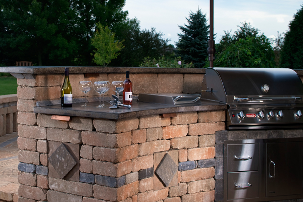 Custom outdoor kitchens and bbq islands sacramento ca for Block outdoor kitchen
