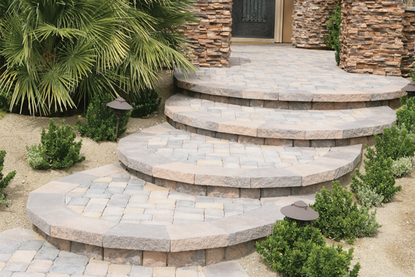 Ordinaire Our Stairs And Step Pavers Come In Many Different Colors And Textures, So  That You Can Have The Look Of Natural Stone, Brick, Cobblestone, Or Many  Other ...