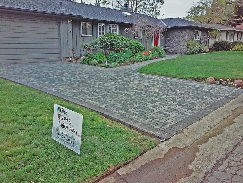 Driveway Paver Stones Installation Roseville - After