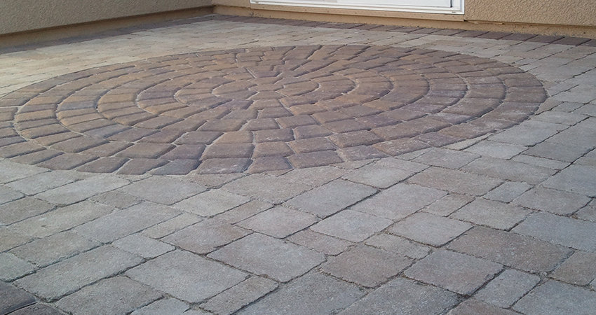 Patio Pavers For Faux Rugs Custom Faux Rug Style Patio
