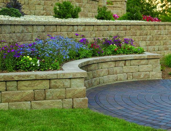 Paver Stone (Concrete Block) Retaining Wall