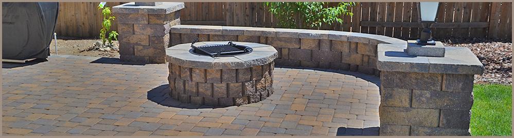 Concrete Block Fire Pit