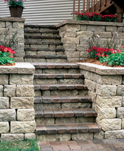 Concrete Block Pavers - Stairs & Steps