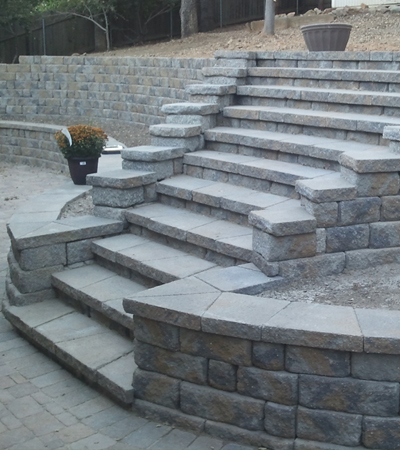 Concrete Block Stairs and Steps