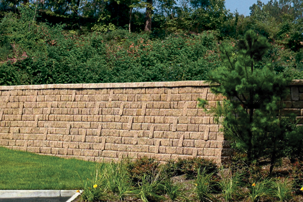 Custom Concrete lock Retaining Wall