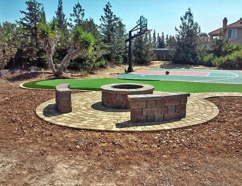 Paving Stone Fire Pit in Roseville