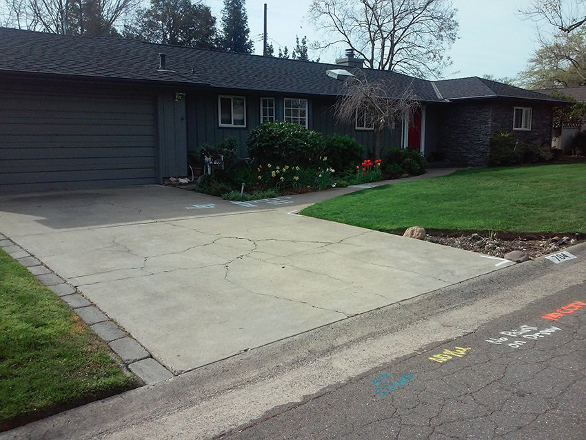 Driveway Paver Stones Installation Roseville - Before