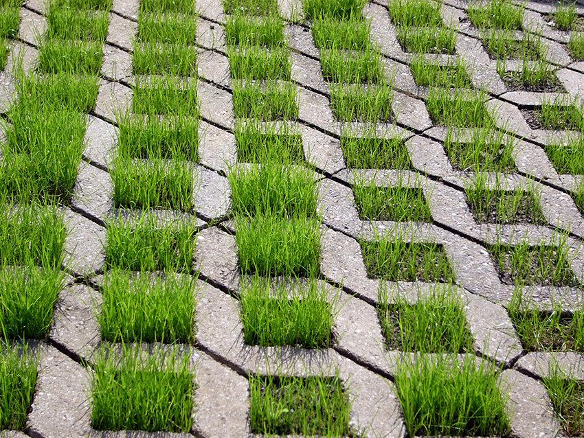Paver Stone Grid Driveways