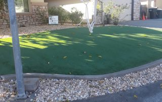 Custom Paver Stone Front Yard and Artificial Turf Design in Sacramento