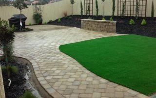 Custom Paver Stone Backyard in Roseville