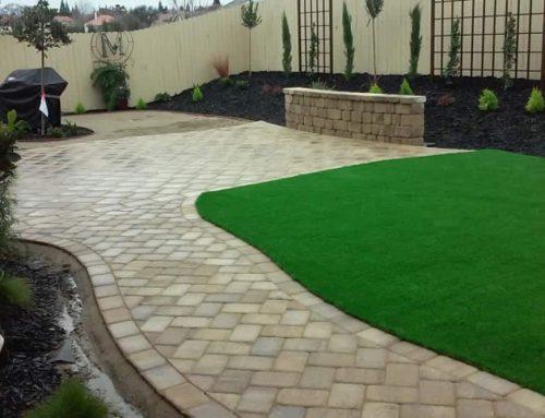 Custom Paver Stone Backyard Roseville