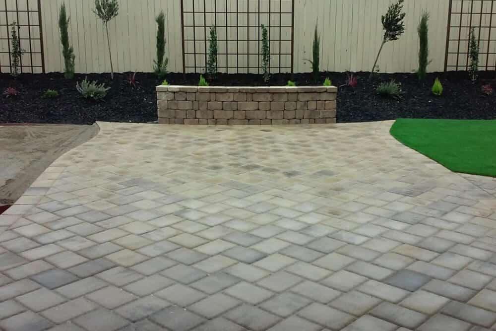 Custom Paver Stone Backyard in Roseville