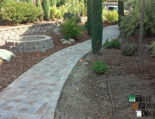 Elaborate Custom Paver Stone Walkway in Lincoln