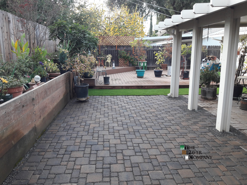 Custom Paver Stone Backyard Reimagined for These Rosemont, California Homeowners