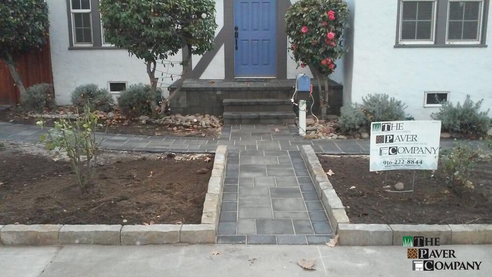 Custom Paver Stone Yard & Walkway Downtown Sacramento
