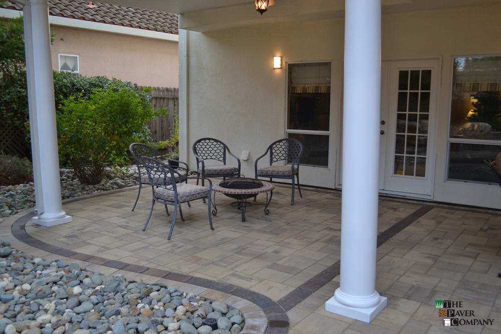 Custom Paver Stone Backyard Designed and Built in Carmichael