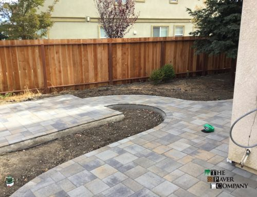 Custom Paver Stone Backyard and Walkway In Fairfield