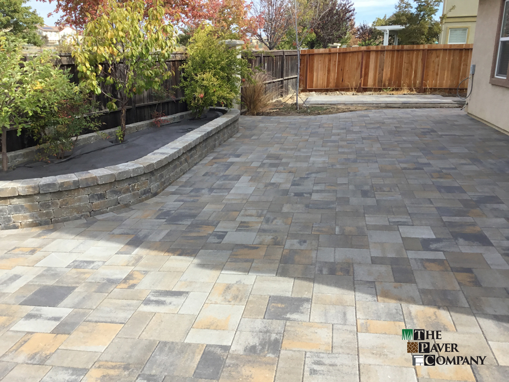 Custom Paver Stone Backyard and Walkway In Fairfield